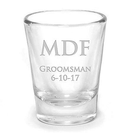 Personalized Wedding Shot Glass