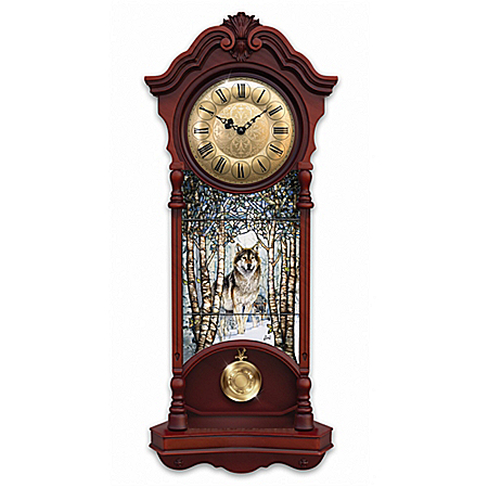 Noble Spirits Stained Glass Wall Clock