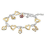 I Wish You Personalized Granddaughter Charm Bracelet