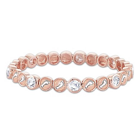 Footprints In The Sand Copper Stretch Bracelet