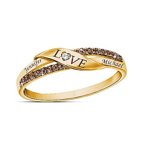 Sweetest Love Personalized Mocha Diamond Ring – Personalized Jewelry