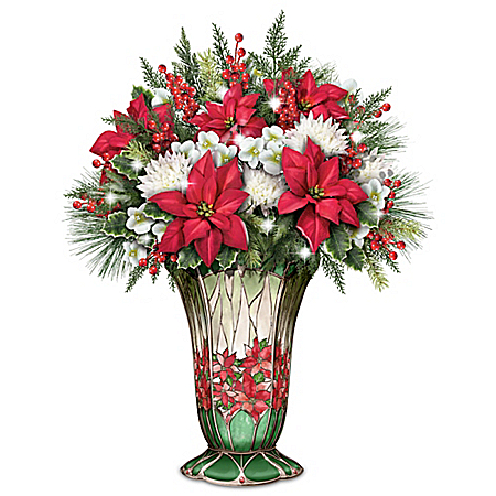Holiday Splendor Illuminated Table Centerpiece