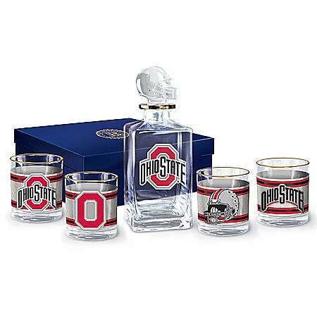 Ohio State University Buckeyes Legacy Glassware Set