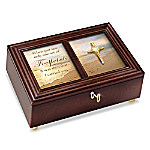 Footprints In The Sand 22K Gold-Plated Cross Heirloom Music Box