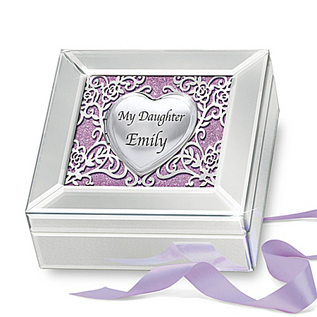 Reflections Of Love Locket Personalized Music Box