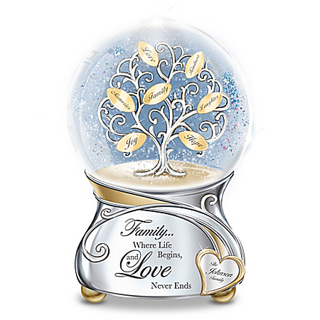 Family's Love Personalized Glitter Globe
