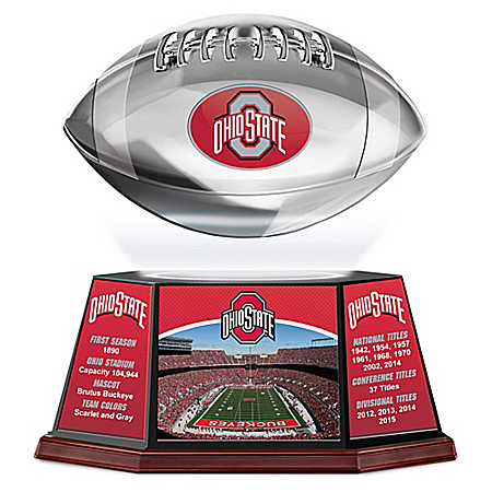 Ohio State Buckeyes Levitating Football Sculpture Lights Up and Spins: 1 of 5000