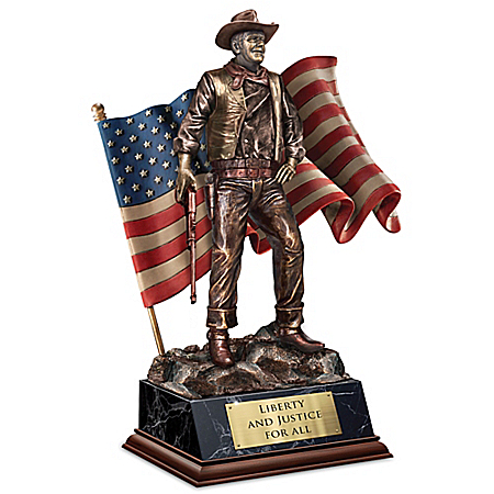 John Wayne: Patriotic American Talking Sculpture