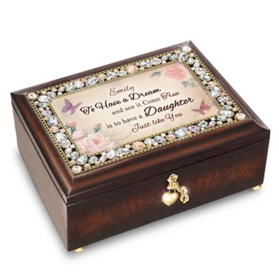 Bradford Exchange My Daughter, You're a Dream Come True Personalized Jeweled