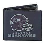 NFL Seattle Seahawks Men's RFID Blocking Leather Wallet