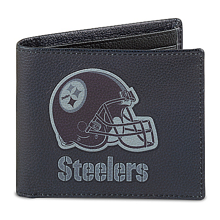 NFL Pittsburgh Steelers Men's RFID Blocking Leather Wallet