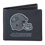NFL San Francisco 49ers Men's RFID Blocking Leather Wallet