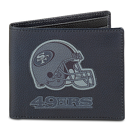 NFL San Francisco 49ers Men's RFID Blocking Leather Wallet