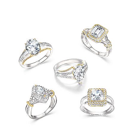 Touch Of Gold Women's Diamonesk Ring