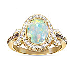 Queen Of Gems Ethiopian Opal And Diamond Women's Ring