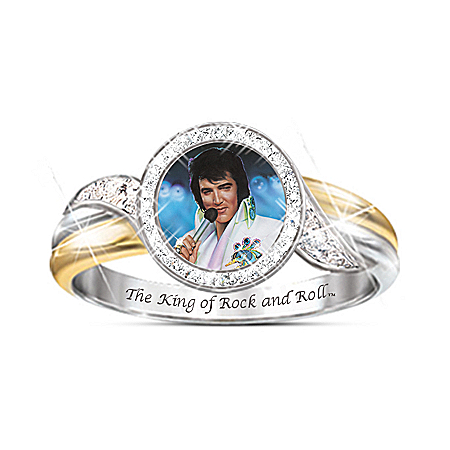 Embrace The King Elvis Presley Ring