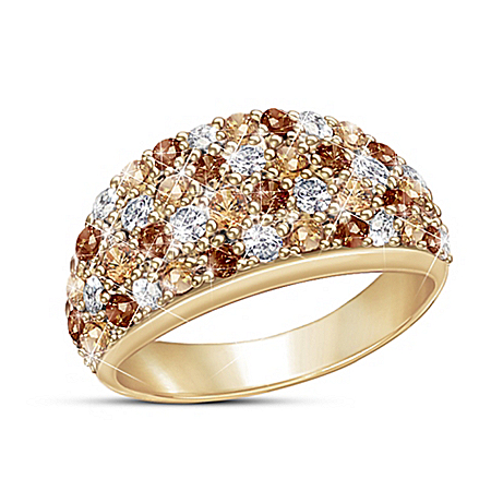 Wild Beauty Women's 18K Gold-Plated Diamonesk Dome Ring