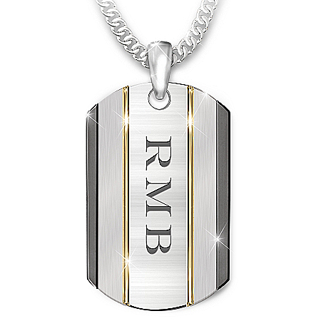 The Strength Of My Son Personalized Stainless Steel Dog Tag Necklace