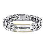 Cowboys Diamond Personalized Stainless Steel Bracelet