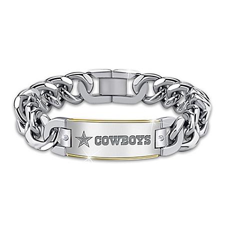 Cowboys Diamond Personalized Stainless Steel Bracelet – Personalized Jewelry