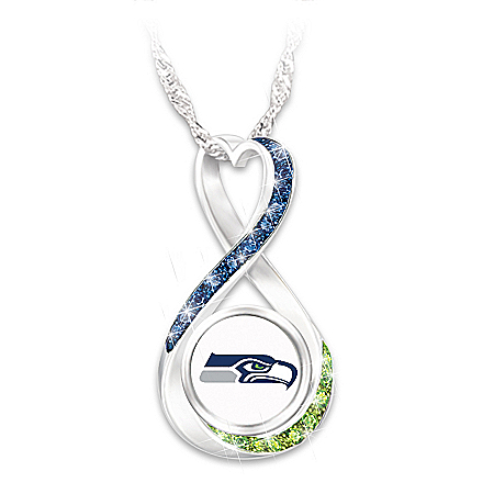 NFL Seattle Seahawks Forever Women's Infinity Pendant Necklace
