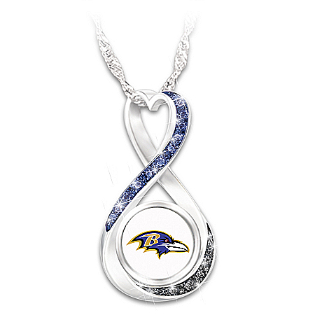 NFL Baltimore Ravens Forever Women's Infinity Pendant Necklace
