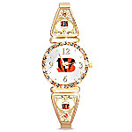 My Bengals Women's Gold-Tone Watch