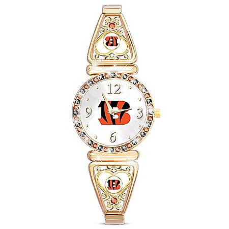 My Cincinnati Bengals Women's Gold-Tone NFL Watch