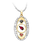 For The Love Of The Game Arizona Cardinals Pride Pendant Necklace