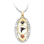 For The Love Of The Game Atlanta Falcons Pendant Necklace