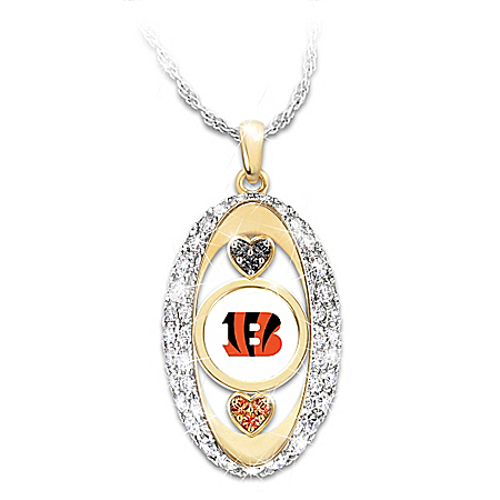 For The Love Of The Game Cincinnati Bengals Pendant Necklace