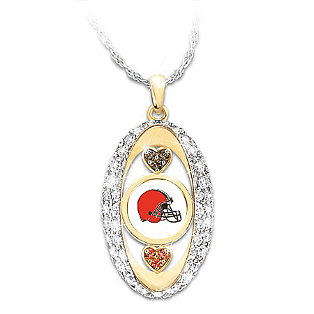 For The Love Of The Game Cleveland Browns Pendant Necklace