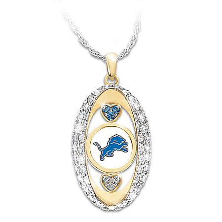 For The Love Of The Game Detroit Lions Pendant Necklace