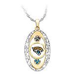 For The Love Of The Game Jacksonville Jaguars Swarovski Crystal Pendant Necklace