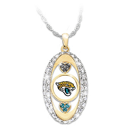 For The Love Of The Game Jacksonville Jaguars Swarovski Crystal Pendant Necklace