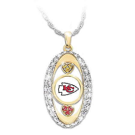 For The Love Of The Game Kansas City Chiefs Pendant Necklace
