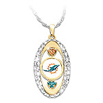 For The Love Of The Game Miami Dolphins Pendant Necklace