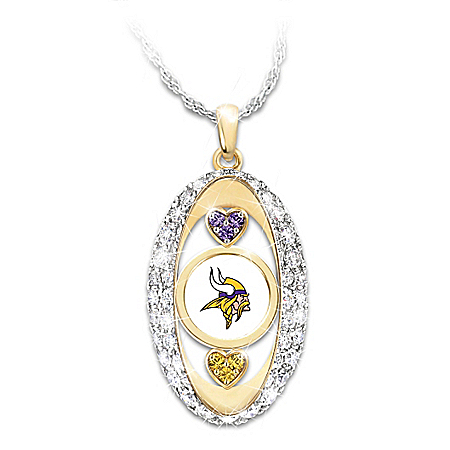 For The Love Of The Game Minnesota Vikings Pendant Necklace