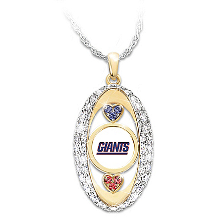 For The Love Of The Game NFL New York Giants Women's Necklace