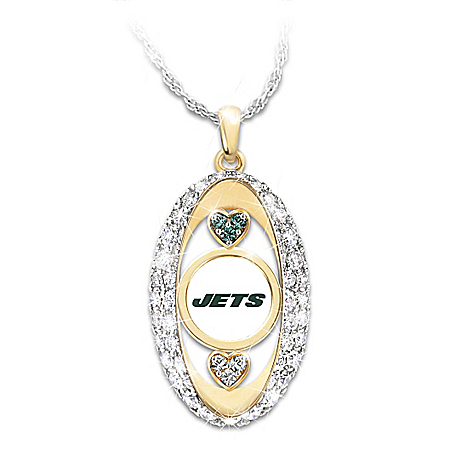 For The Love Of The Game New York Jets Pendant Necklace