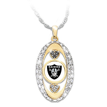 For The Love Of The Game Oakland Raiders Pendant Necklace