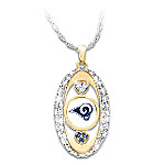 For The Love Of The Game Los Angeles Rams Pendant Necklace