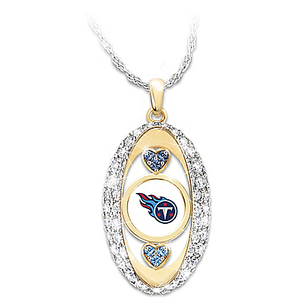 For The Love Of The Game Tennessee Titans Swarovski Crystal Pendant Necklace