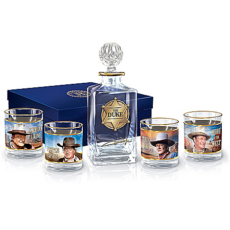John Wayne: American Legend Glass Decanter Set