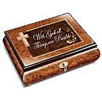 With God All Things Are Possible Wood Music Box
