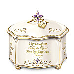 Daughter, May The Lord Bless And Keep You Personalized Heirloom Porcelain Music Box