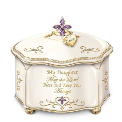 Bradford Exchange Daughter, May The Lord Bless And Keep You Personalized Heirloom Porcelain