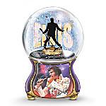 Elvis Presley - Burning Love Musical Glitter Globe
