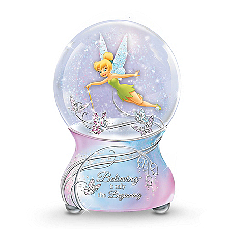 Disney Tinker Bell's Magic Musical Glitter Globe