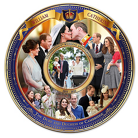 William And Catherine Royal Wedding Anniversary Collector Plate